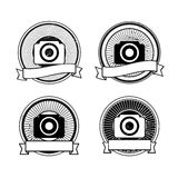 Set of vector camera badges Royalty Free Stock Photography