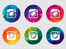 Set of vector camera icons Royalty Free Stock Photo