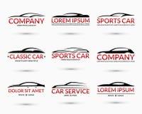 Set of vector car logo design templates Stock Photos