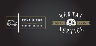 Set of Vector Car Rental Service Elements can be used as Logo or Royalty Free Stock Photo