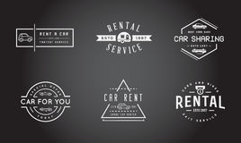 Set of Vector Car Rental Service Elements can be used as Logo or Royalty Free Stock Image