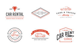 Set of Vector Car Rental Service Elements can be used as Logo or. Icon in premium quality Royalty Free Stock Photos