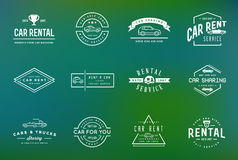 Set of Vector Car Rental Service Elements can be used as Logo or Royalty Free Stock Photography