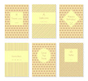 Set of vector card templates or brochures Stock Photo