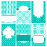 Set of vector card templates. Perfect for invitations and greeting cards for any holiday - Mother's Day, Valentine's Day, wedding, birthday, birth of Royalty Free Stock Images
