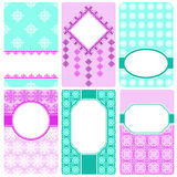 Set of vector card templates. Perfect for invitations and greeting cards for any holiday - Mother's Day, Valentine's Day, wedding, birthday, birth of a child Stock Image