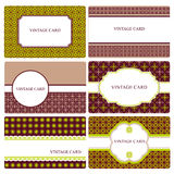 Set of vector card templates Stock Images