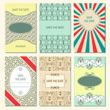 Set of vector card templates Stock Photography