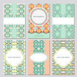 Set of vector card templates Royalty Free Stock Photo