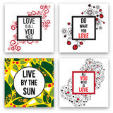 Set of vector cards Royalty Free Stock Image