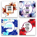 Set of vector cards Royalty Free Stock Images