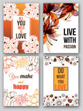Set of vector cards Royalty Free Stock Photo