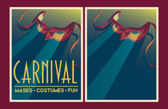 Set of vector Carnival party posters. Stock Image