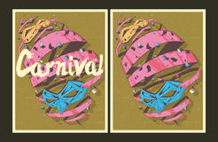 Set of vector Carnival party posters Stock Photo