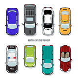 Set of vector cars top view Royalty Free Stock Photo