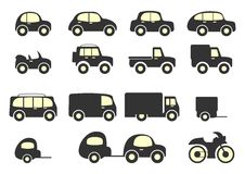 Set of vector cars Stock Photo