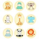 Set vector cartoon animals Stock Photography