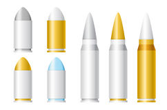 Set of Vector Bullets of Different Sizes Royalty Free Stock Image