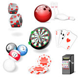 Set of vector casino and game elements Stock Photography