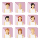 Set of vector casual characters in flat design. Stock Photography