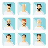 Set of vector casual characters in flat design Royalty Free Stock Image