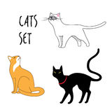 Set of the vector cats Royalty Free Stock Images