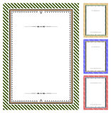 Set of vector certificates Stock Images