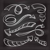 Set of vector chalk doodle arrows. Stock Photo