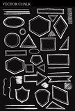 Set of Vector Chalk Shapes Grunge Design Elements Royalty Free Stock Photos