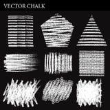 Set of Vector Chalk Shapes Grunge Design Elements Stock Photo