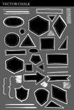 Set of Vector Chalk Shapes Grunge Design Elements Stock Image