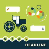 Set of vector characters relating to agriculture. Set of planar vector characters relating to agriculture Royalty Free Stock Photo