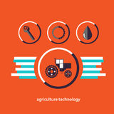 Set of vector characters relating to agriculture. Set of planar vector characters relating to agriculture Stock Image
