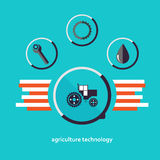 Set of vector characters relating to agriculture Stock Image