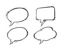 Set of vector chat bubbles Royalty Free Stock Photo