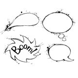 Set of vector chat ink grunge bubbles. This is file of EPS8 format Stock Photos