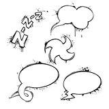 Set of vector chat ink grunge bubbles. This is file of EPS8 format Royalty Free Stock Photos