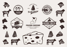 Set of Vector Cheese Logo, Icons and Design Elements Stock Images