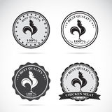 Set of vector chicken labels. On white background Royalty Free Stock Photography