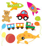 Set of vector child and kids toys Royalty Free Stock Photography