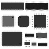 Set of vector chip. Stock Photography