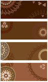 Set vector chocolate postcard Stock Photo