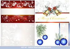 Set of  vector Christmas backgrounds Stock Images