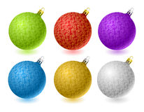 Set of vector Christmas balls Royalty Free Stock Photography