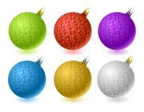 Set of vector Christmas balls royalty free stock photography