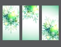 Set of vector christmas banners Royalty Free Stock Images