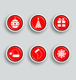 Set of vector Christmas buttons Royalty Free Stock Photo