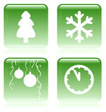 Set of vector Christmas icons Stock Images