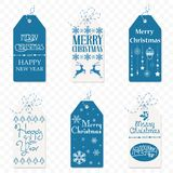 Set of Vector christmas label. Christmas tag. New Year sign symbol isolated vector illustration
