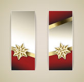 Set of vector christmas / New Year banners Stock Images